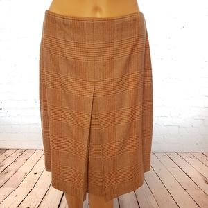 Banana Republic Stretch Glen Check Wool Skirt